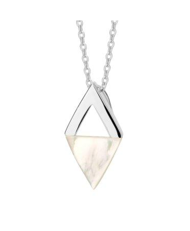 Naszyjnik srebrny z masą perłową
